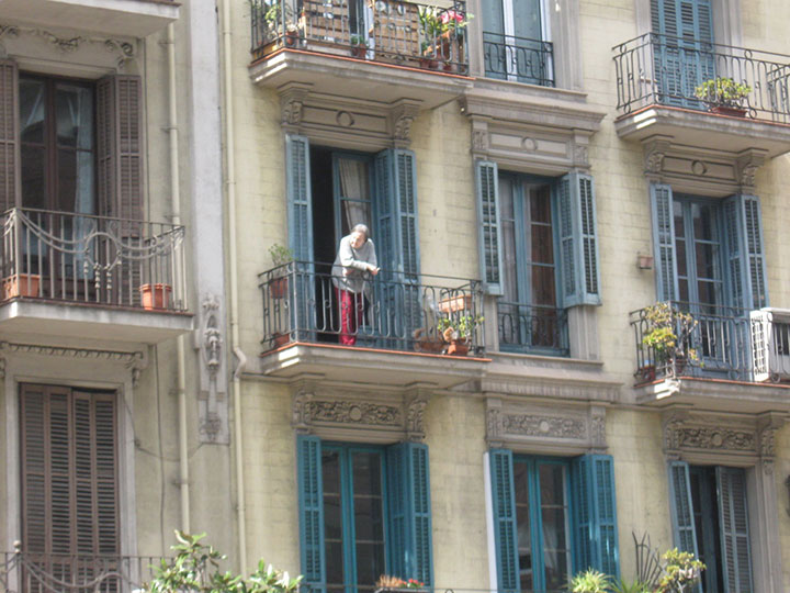 Barcelona Resident on Balcony